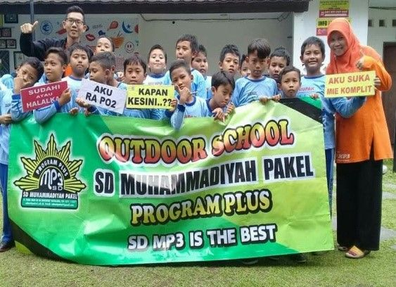 Program outdoor school learning SD Muhammadiyah Pakel